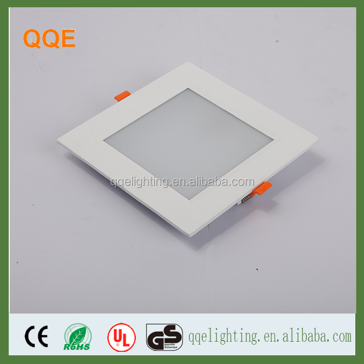 China Manufacturer 2017 Design 6W 9W 12W 15W 18W Square Flat LED Panel Ceiling Light