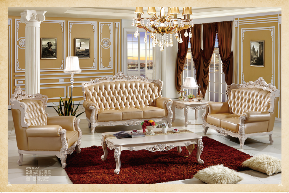 luxury wooden leather sofa set designs furniture living