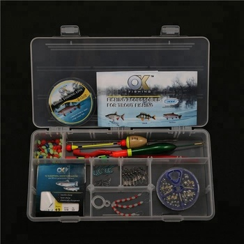 PALADIN Trout Carp Fishing Set Plastic Box Assortments with Fishing Line Hooks Floats Leaders