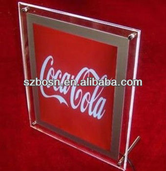 Acrylic hanging sign display;Perspex sign holder;