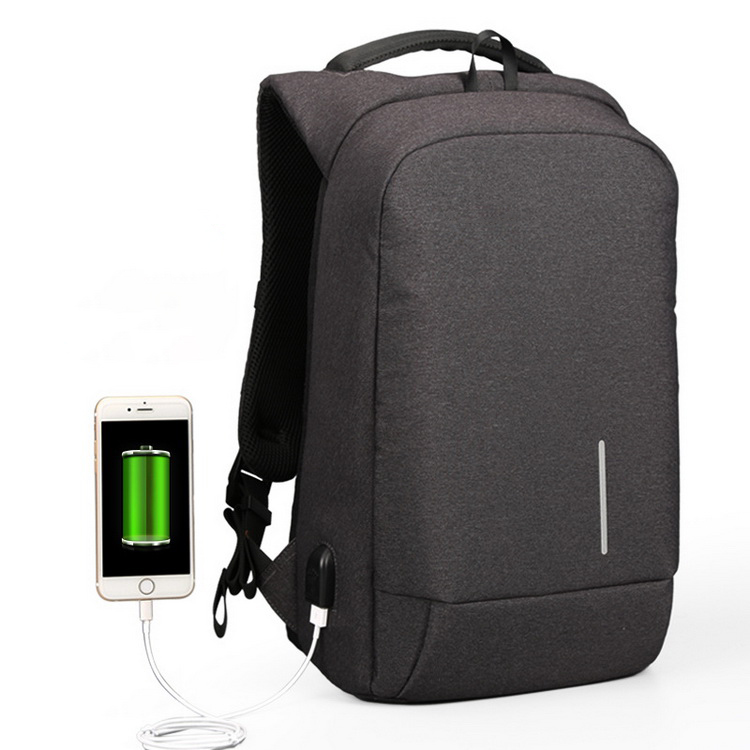 Wholesale 15.6 Inch Traveling Waterproof Custom USB Charging Bag Anti Theft Laptop Backpack