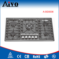 manual ignition gas stove oven, indoor portable gas burners, built in gas hob 5 burners