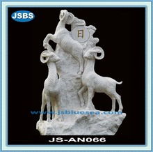 Hand Carved Stone Goat Statue 2012