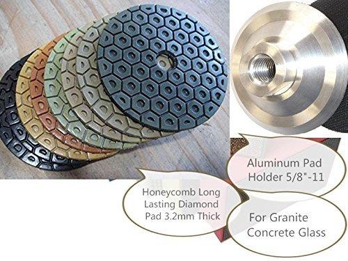 "4"" Diamond 3.2mm Thick Long Lasting Polishing Pad 19+1 PCS Grit 30 to 10000 Aluminum Backer Granite polishing concrete polishing glass polishing countertop lapidary masonry engineer stone polishing"