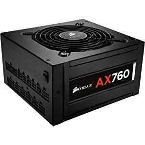 "Corsair Ax760 Atx Power Supply . 760 Watt 80 Plus Platinum Certified Fully. Modular Psu . 110 V Ac, 220 V Ac Input Voltage . Internal . Modular . Ati Crossfire Supported . Nvidia Sli Supported ""Product Type: Power Equipment/Power Supplies"""