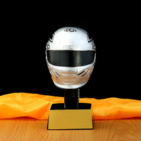 Customized karting resin sports trophy racing commemorative direct craft prizes helmet trophy