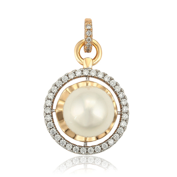 35102 xuping Jewelry 2019 latest round pearl pendants bulk fashion for men/women