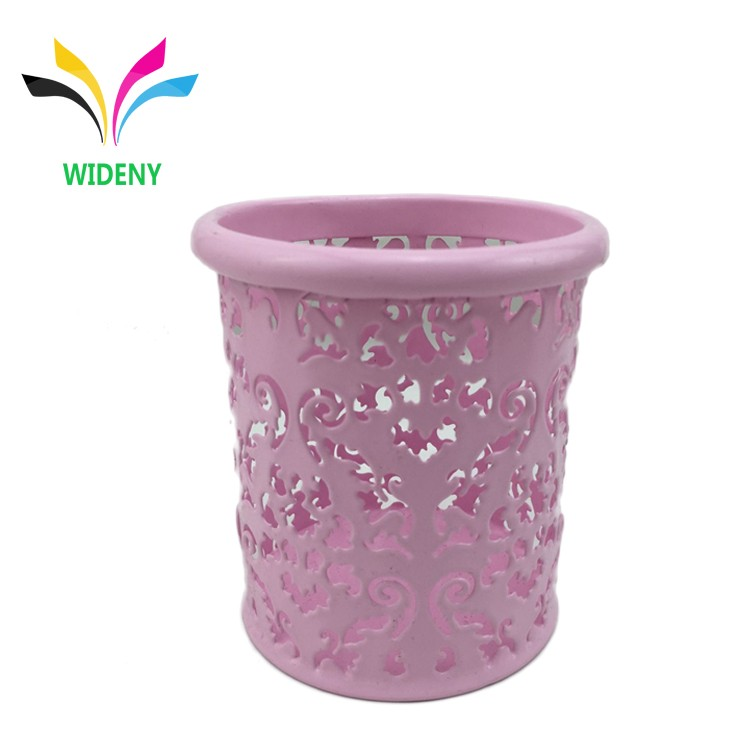 Office home decoratieve make set metalen iron mesh cup borstel snoep houder memo penhouder