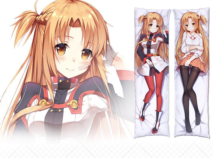 Sword Art Online Ordinal Scale Asuna Anime Dakimakura Pillow Case Hugging Body
