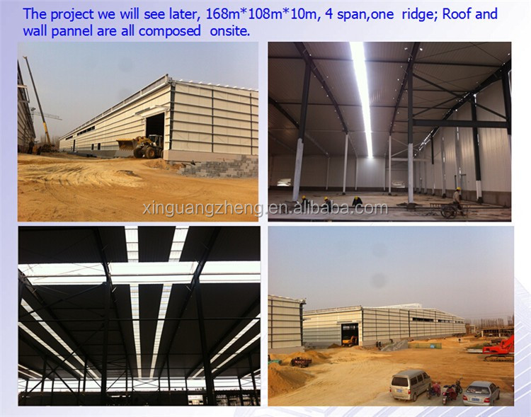 single slope structural steel workshop building