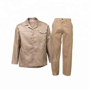 Wholesale cotton oil resistant workwear safety staff uniform hotel workwear