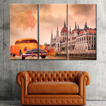 Home Decor Collection Classical British Buildings And Cars Wall Art ...