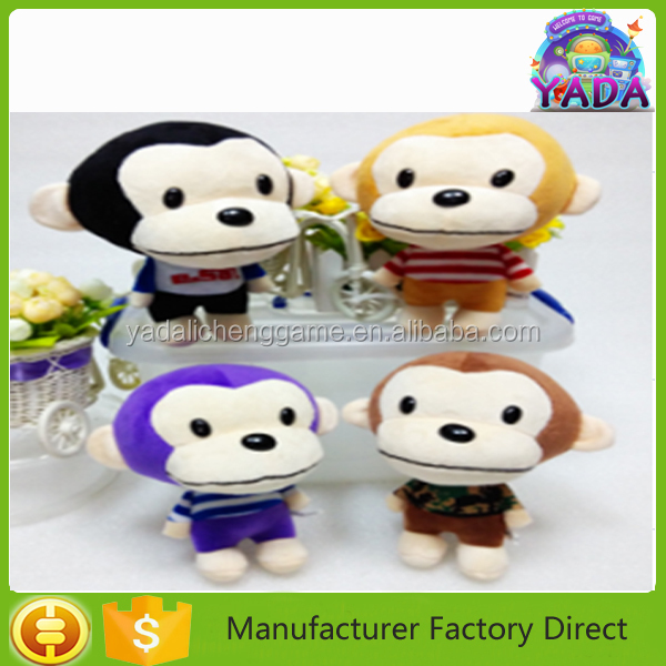 Hot sale big head monkey soft stuffing plush animal gift toy doll with CE