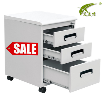 Saving Space Movable 3 Drawer Metal Dental Cabinet With Cheap Price