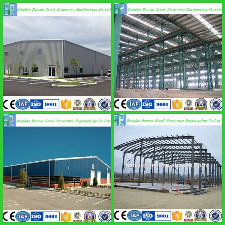 Prefabricated steel frame factory building plans
