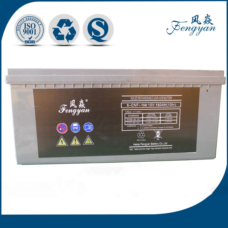 12V150AH sealed rechargeable lead acid AGM battery
