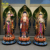 High Quality Painting Fiberglass Seated Buddha Statues For Church Decorate
