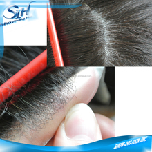 Super thin skin inject base hair toupee for men