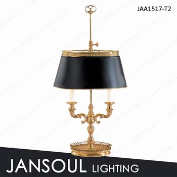 Vintage Black Shade Br Table Lamp