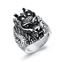 Marlary Fashion Biker Punk Rock Style Stainless Steel Rings Jewellery For Men ,Gothic Style Rings