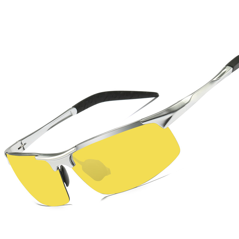 Stylish hot selling sports sunglasses yellow lenses glasses night vision goggles driving fishing glasses