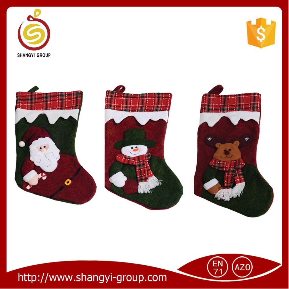2017 new arrival popular stage stocking decoration for christmas party