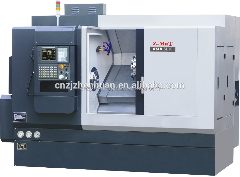 SL10 linear motion guideway slant bed turret cnc turning center/programmable tailstock fast tool change