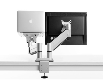 Dual Monitor Height Adjustable Aluminium Arm LCD Mounting Table Stand