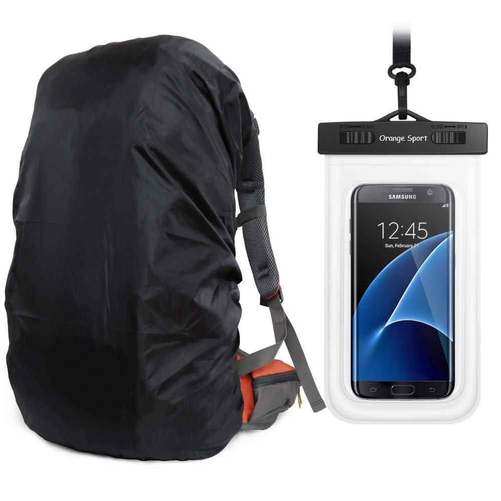 MECOC Backpack Rain Cover With PU Stored Bag&Cellphone Waterproof Case …