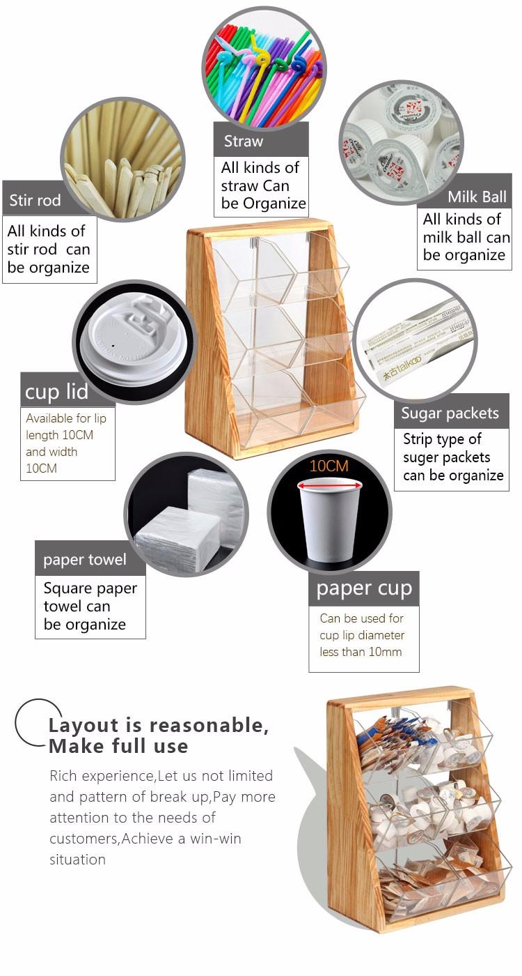 condiment organizer restaurant. Restaurant Source Coffee Caddy Pine Wood Frame Acrylic Cup Condiment Organizer Food Display Rack Pmma