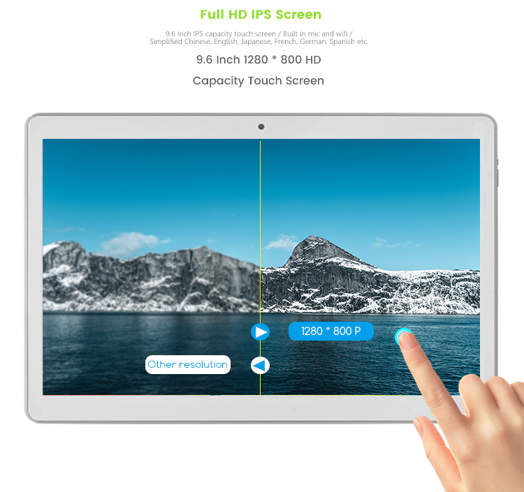 Wholesale 9.6Inch Hd Ips Touch Screen 3G Commercial Android Tablet Pc