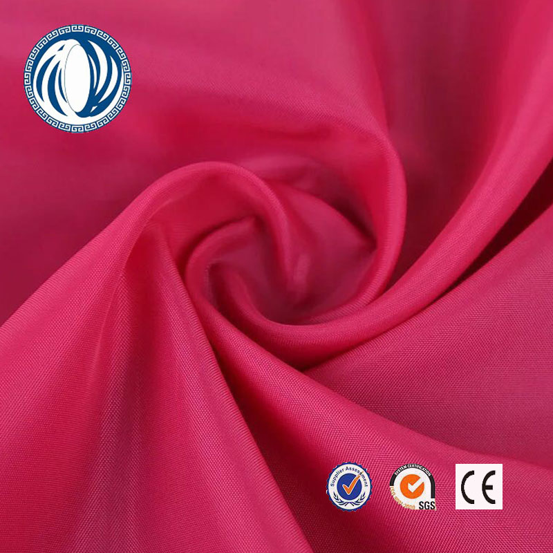 180T high quality plain polyester taffeta fabric handbag lining <strong>material</strong> for bag and luggages