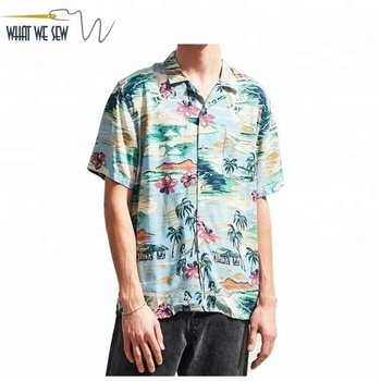 5669fbde Custom Aloha Shirt Linen Hawaiian Shirt Beach Party Wear Shirt Wholesale