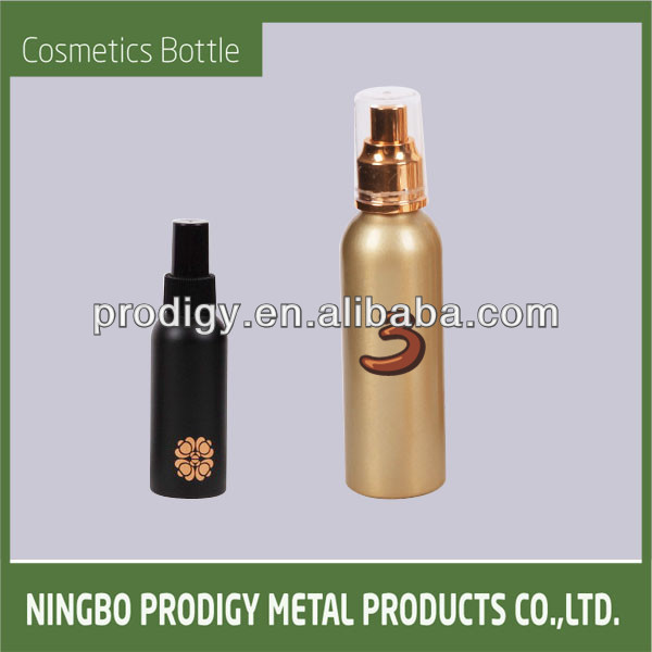 Aluminum cosmetic refillable bubble bath bottle