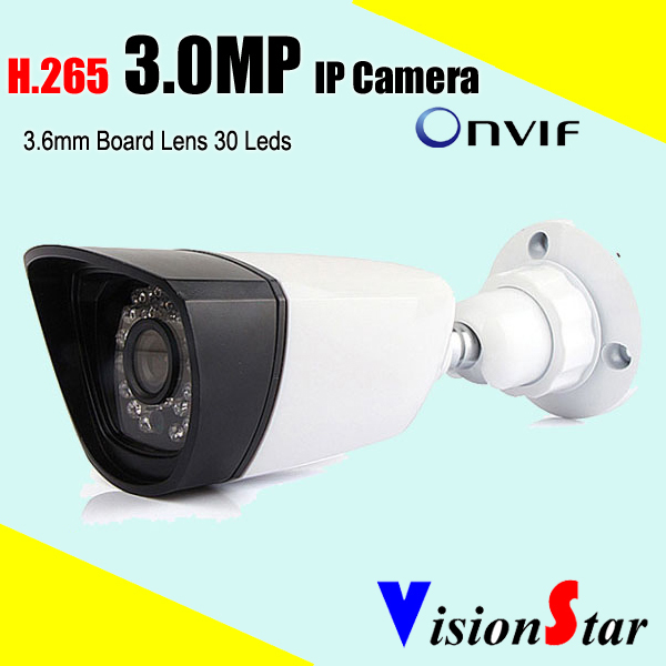 VisionStar security 3.0mp bullet ir cut ip camera web server network cmos cctv surveillance system