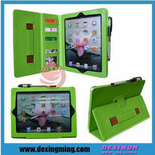 Handheld Folio kickstand Wallet Universal Case for Apple's iPad4 iPad3 iPad2 wholesale