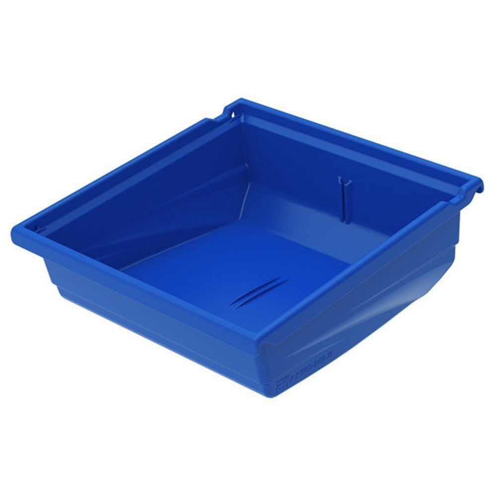 """Universal Hanging Bin, Plastic Storage Containers Bins, 16 Pack (4.5"""" H x 4.13"""" W x 11.5"""" D, Blue)"""