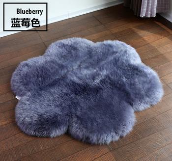 Custom Long Lamb Wool Fur Carpet Sofa Cushion Sheepskin Rug Multi Color For Hotel Bedroom Car Seat Australian