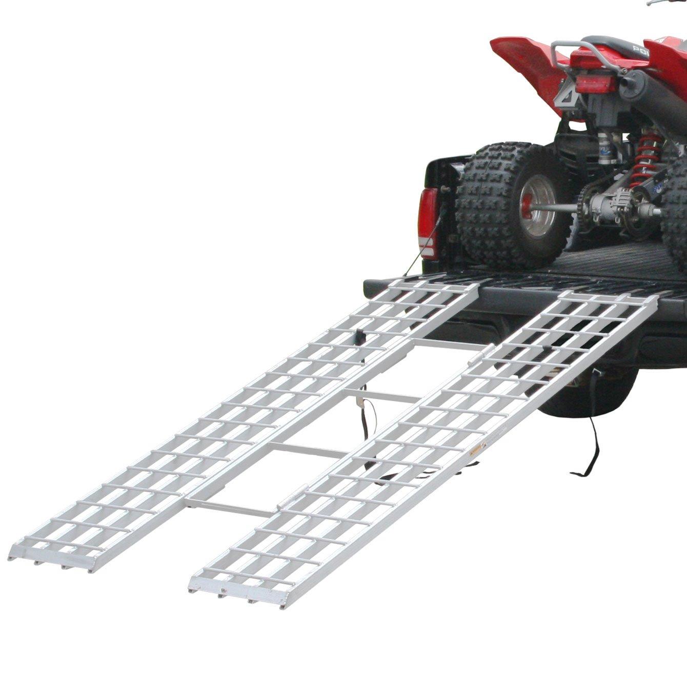 Rage Powersports ITF-8546 Loading Ramp (85' x 46' Tri-Fold ATV for 4x4 Raised Trucks)