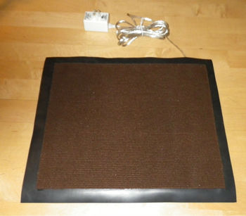 Warmfoot Heated Foot Pad Carpet Top Rubber Skirt Electric