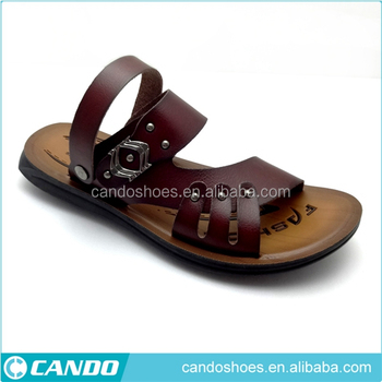 5d9e96a5380a5 ODM women pu sole sandal shoes Mens Sandals Leather 2019 Mens Fancy Footwear