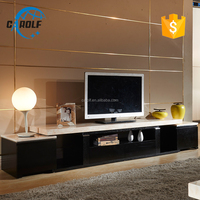 Fashionable design Marble plywood tv cabinet