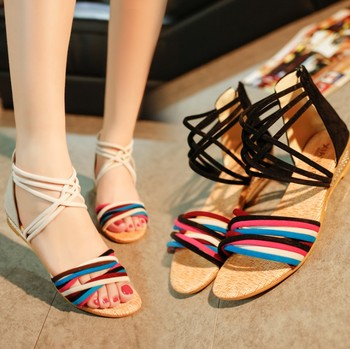 64b50abae zm40893c new style female sandals summer flat sole lady shoes beach bohemia  student women sandal