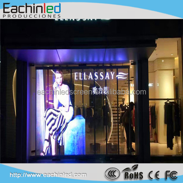 P16 Outdoor Glass Led Screen/Transparent Glass Window Wall Display / transparent glass touch screen