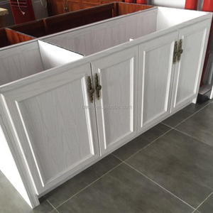 Custom size high quality price full white aluminum kitchen cabinet