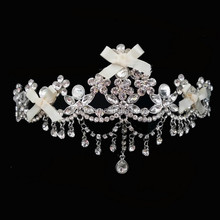 2015 new crystal pendant forehead tiara for wedding/bride/party/pageant