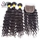 Cheap Indian Deep Wave Bundles Human Hair Weave Companies Online