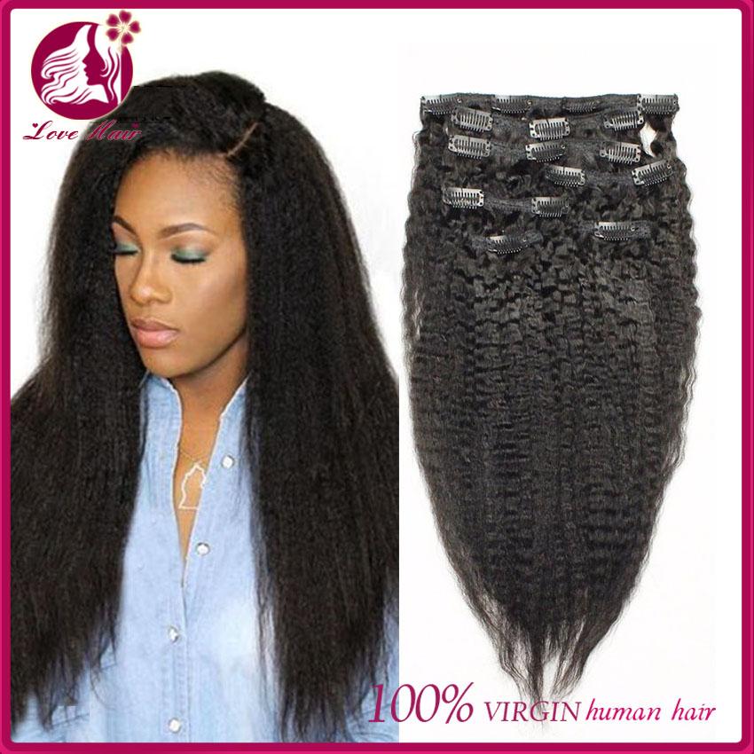 7a Clip In Human Hair Extensions Brazilian Virgin Italian Yaki Kinky