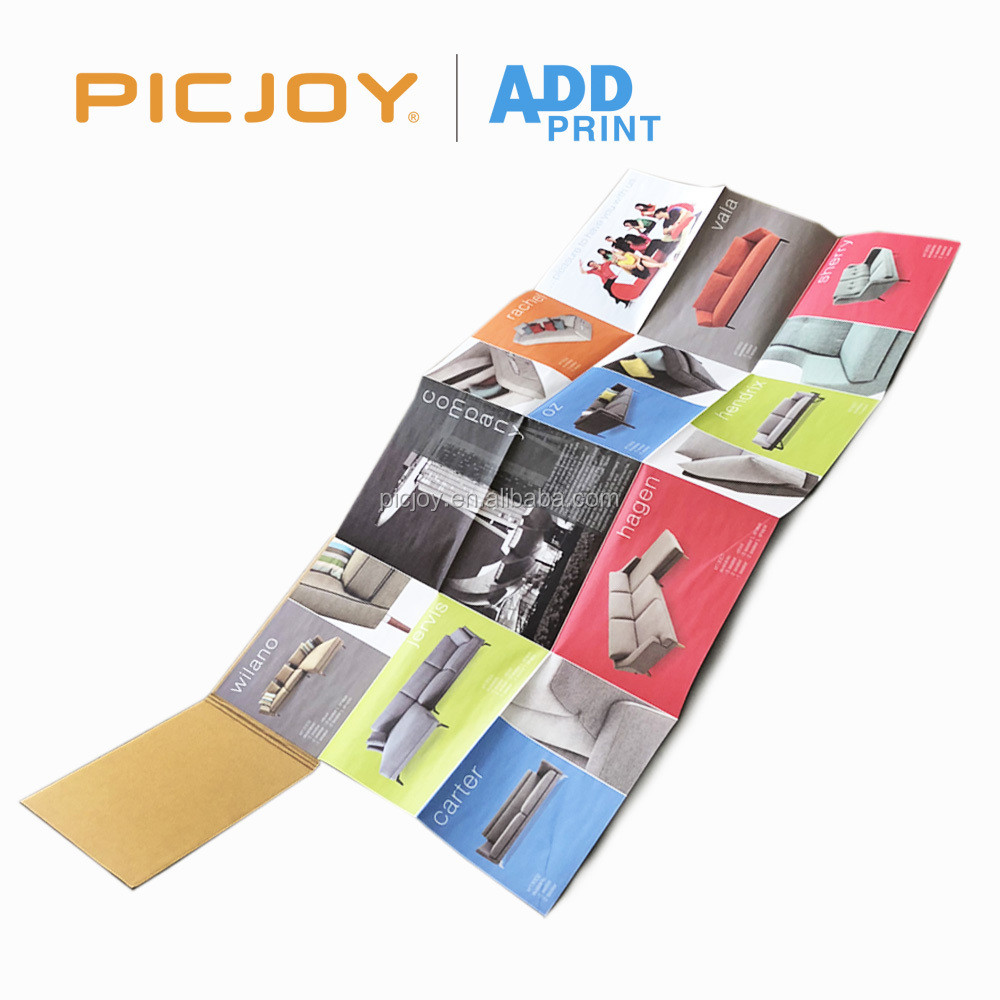 24 Pages pamphlet shopping guide brochure offset printing with corrugated paper cover printing in shanghai