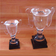 New crystal design trophy crystal Cups with Clear Handles